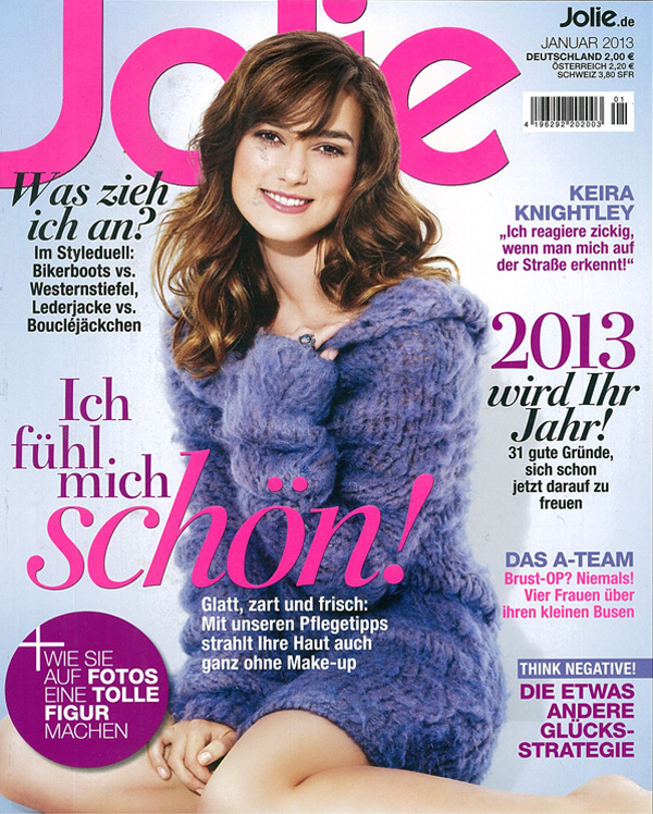 Make-up Tipps in Jolie Cover Januar 2013