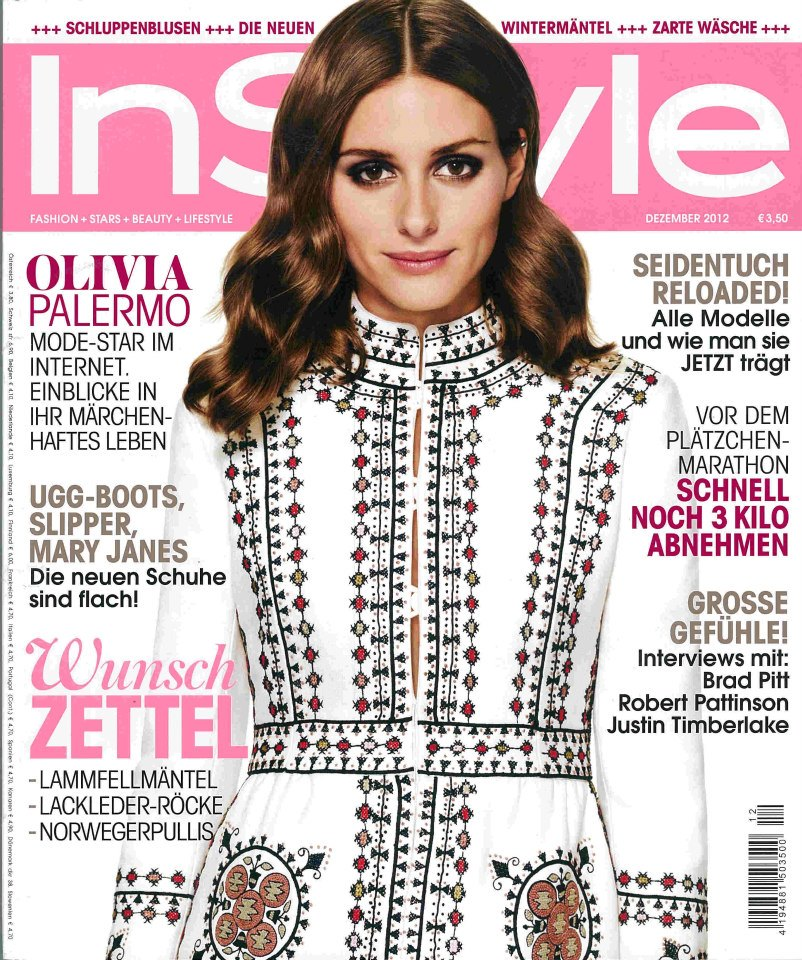 InStyle Dezember 2012 Cover