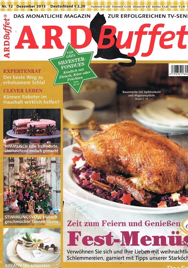ARD Buffet Cover Dezember 2013
