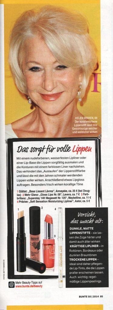 Bunte Page 3 Dezember 2014 - Beauty Tipps