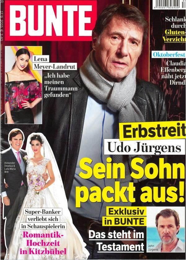 Bunte September 2015 - Cover