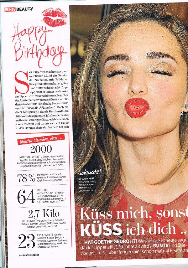 Bunte Page 1 August 2013