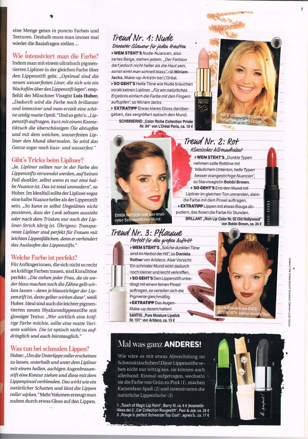 Bunte Page 2 August 2013
