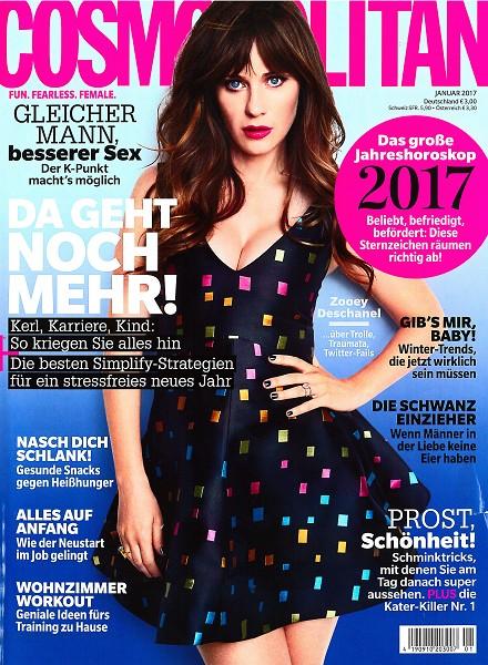 Cosmopolitan Januar 2017 - Cover - by Visagist Luis Huber in München