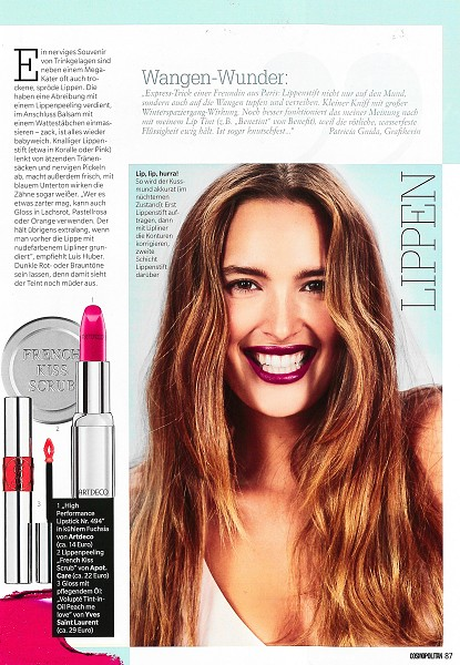 Cosmopolitan Januar 2017 - Page 3 - by Visagist Luis Huber in München