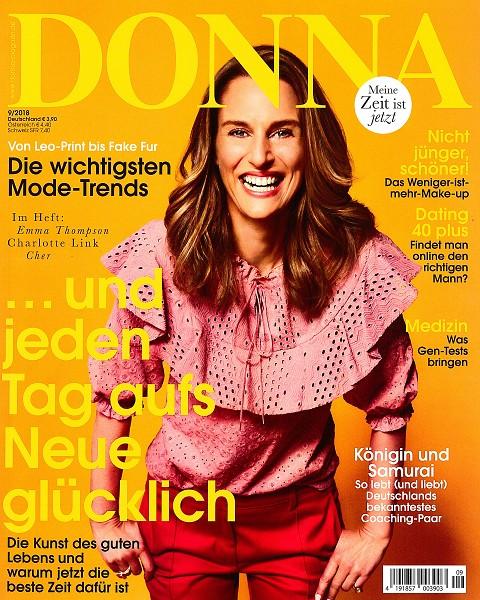 DONNA September 2018 - Cover - by Visagist Luis Huber in München