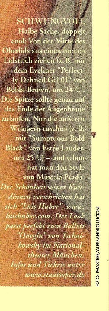 ELLECITY Guide 2015 Text - by Visagist Luis Huber in München