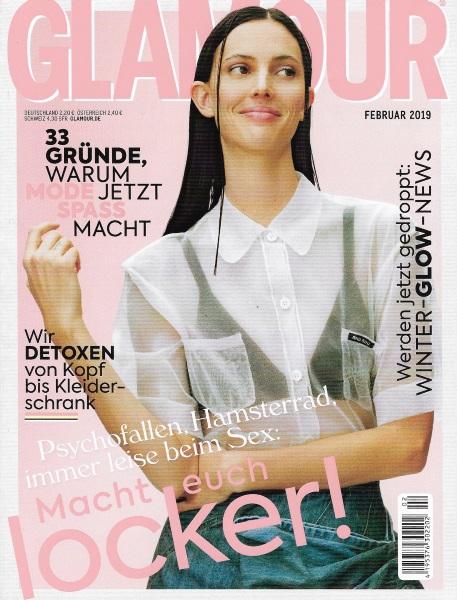 GLAMOUR Februar 2019 - Cover - by Visagist Luis Huber in München