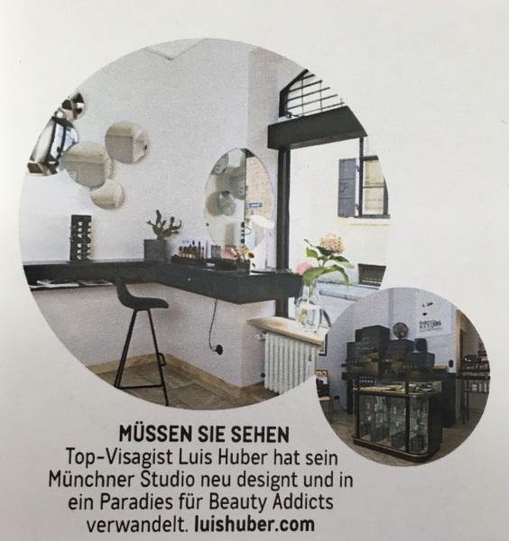 GLAMOUR Februar 2019 - Page - by Visagist Luis Huber in München