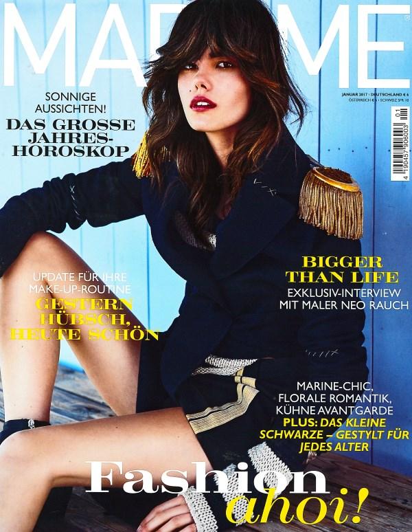 Madame Januar 2017 - Cover - by Visagist Luis Huber in München