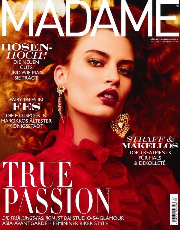 Madame März 2017 - Cover - by Visagist Luis Huber in München