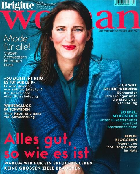 Brigitte Woman Januar 2018 - Cover - by Visagist Luis Huber in München