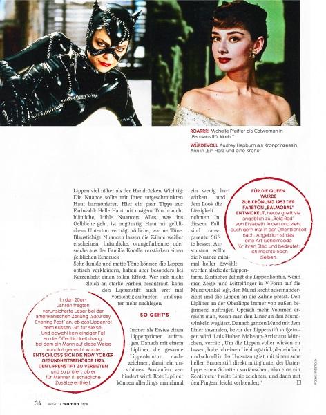 Brigitte Woman Januar 2018 - Page - by Visagist Luis Huber in München