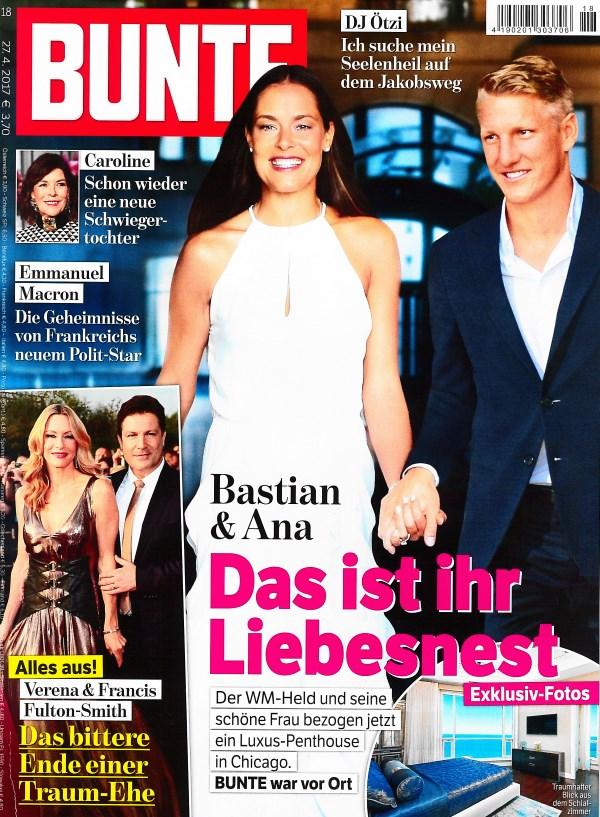 Bunte April 2017 - Cover - by Visagist Luis Huber in München