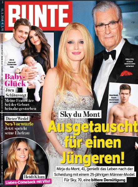 Bunte Januar 2018 - Cover - by Visagist Luis Huber in München