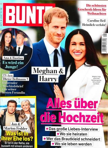 Bunte November 2017 - Cover - by Visagist Luis Huber in München