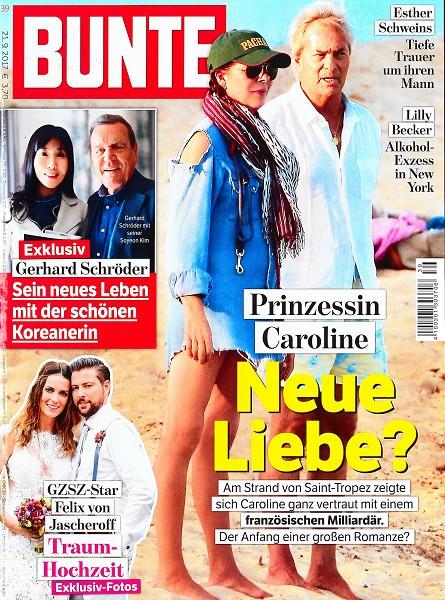 Bunte September 2017 - Cover - by Visagist Luis Huber in München