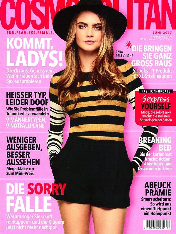 Cosmopolitan Juni 2017 - Cover - by Visagist Luis Huber in München