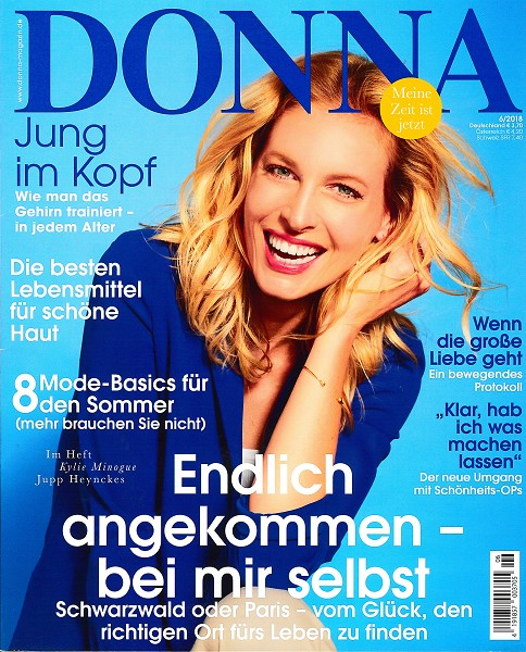 DONNA Juni 2018 - Cover - by Visagist Luis Huber in München