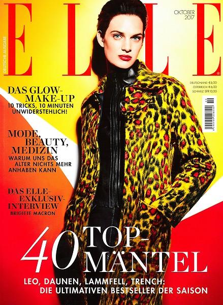 ELLE Oktober 2017 - Cover - by Visagist Luis Huber in München