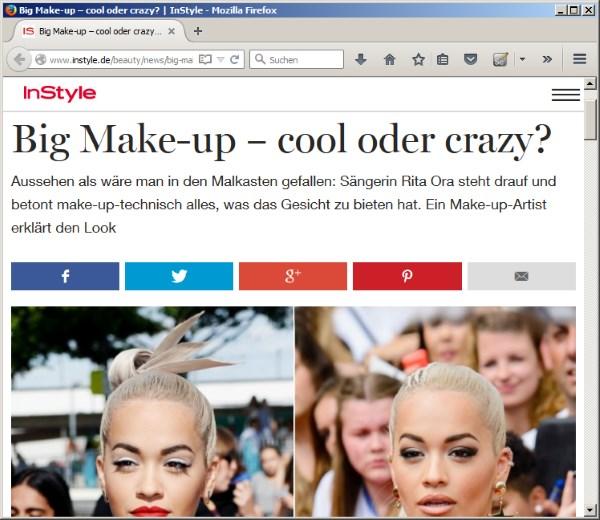 """Juli 2015 - """"Big Make-up – cool oder crazy?"""" auf instyle.de"""