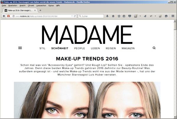 Juli 2015 - Make-up Trends 2016 auf madame.de