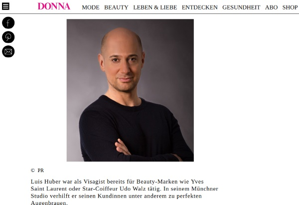 donna-magazin.de Juni 2017 - Profi-Tipps für perfekt gestylte Augenbrauen mit 40plus von Visagist Luis Huber