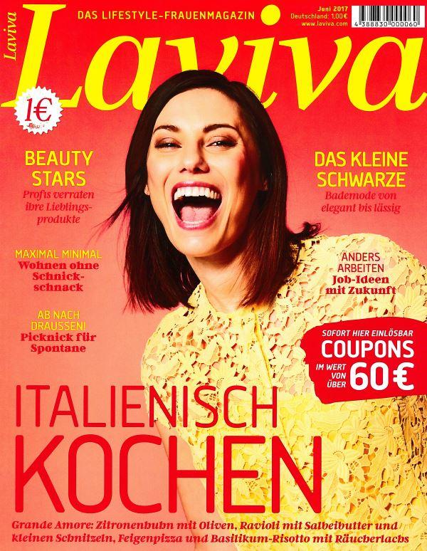 Laviva Juni 2017 - Cover - by Visagist Luis Huber in München