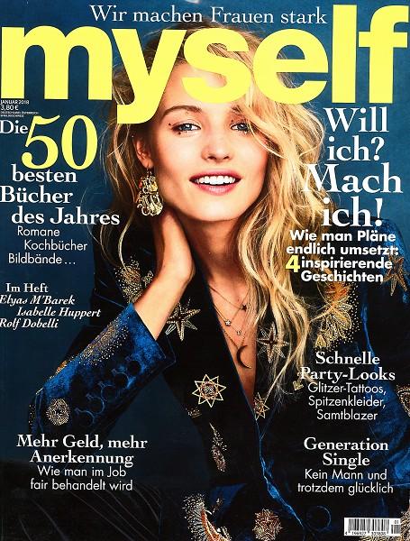 MYSELF Januar 2018 - Cover - by Visagist Luis Huber in München