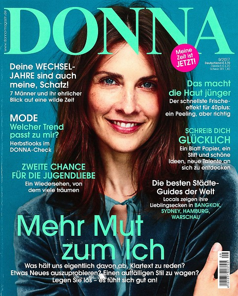 DONNA September 2017 - Cover - by Visagist Luis Huber in München