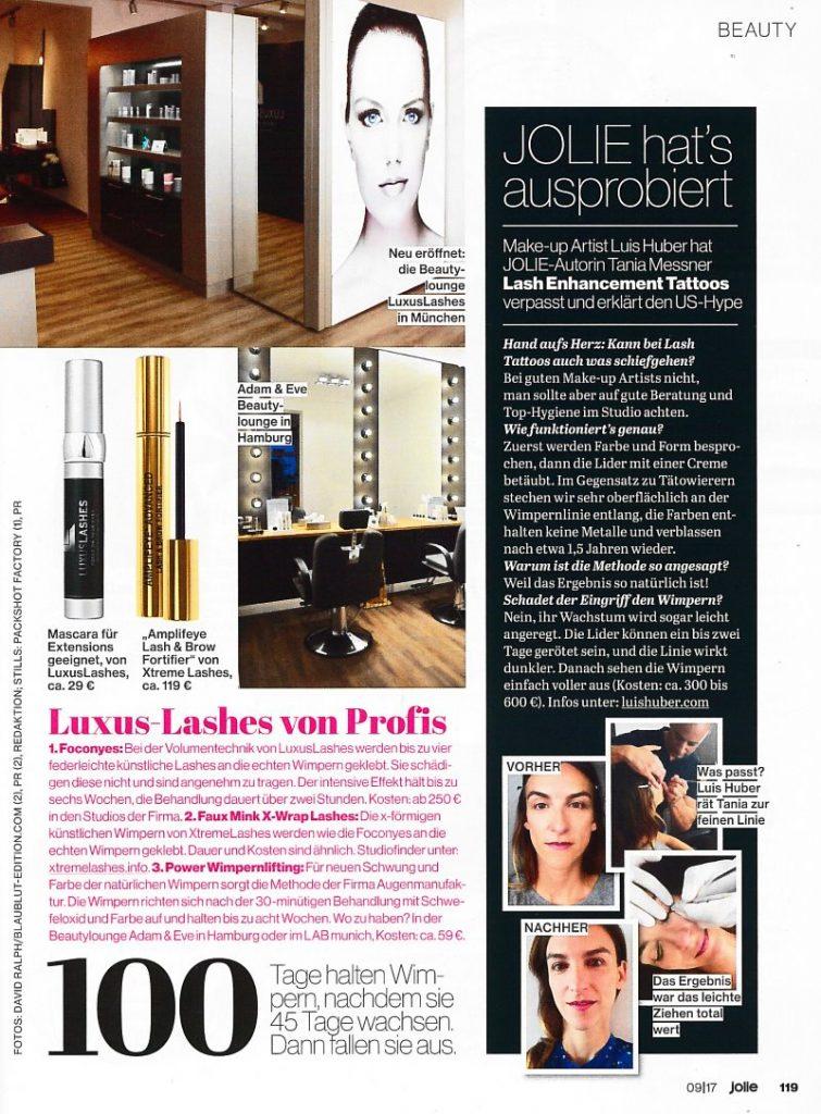 Permanent Make-up an den Lidern in München