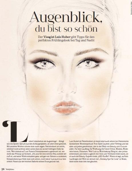 Süddeutsche Zeitung 2018 - Page 1 - by Visagist Luis Huber in München
