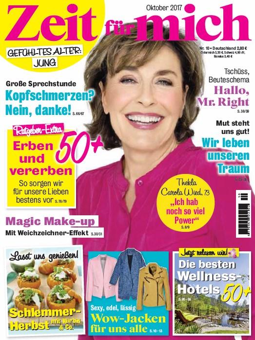 Zeit für mich Oktober 2017 - Cover - by Visagist Luis Huber in München
