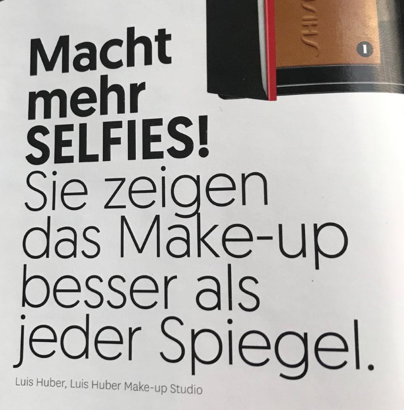 Glamour Oktober 2020 - Make-up Tipps von Visagist Luis Huber - Page 1
